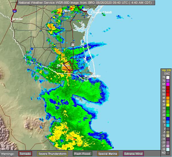 Radar Image for Severe Thunderstorms near Elsa, TX at 6/26/2020 4:44 AM CDT