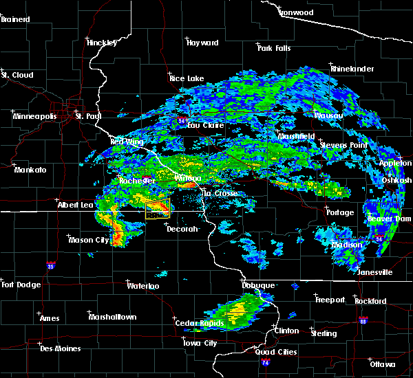 Radar Image for Severe Thunderstorms near Mabel, MN at 6/26/2020 1:04 PM CDT