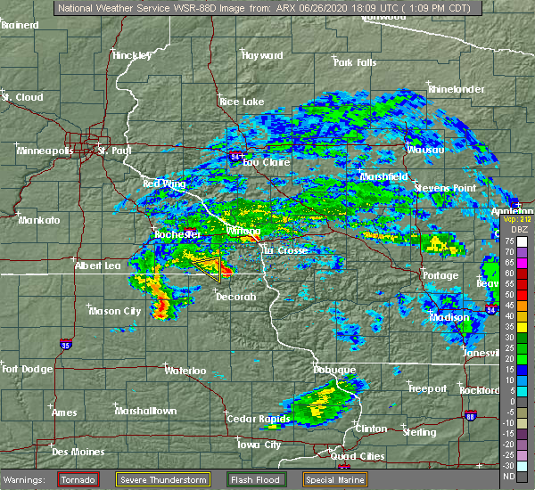 Radar Image for Severe Thunderstorms near Mabel, MN at 6/26/2020 1:13 PM CDT