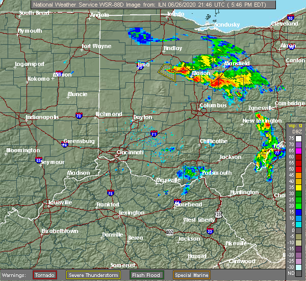 Radar Image for Severe Thunderstorms near Patterson, OH at 6/26/2020 5:53 PM EDT