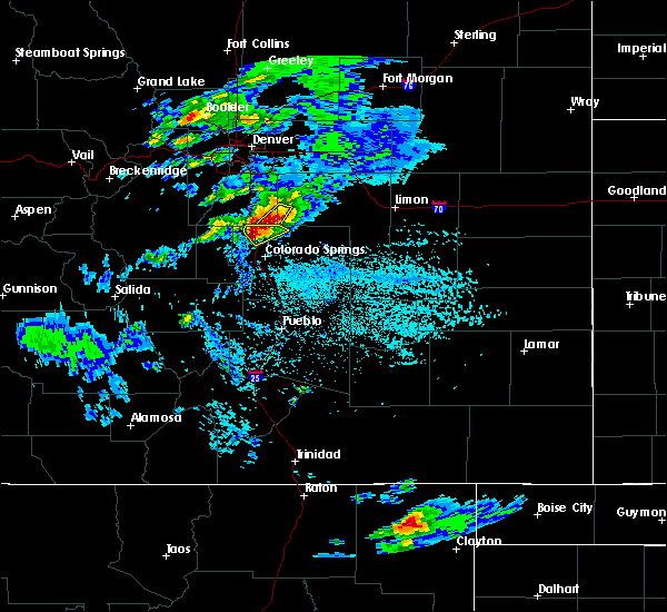 Radar Image for Severe Thunderstorms near Monument, CO at 6/26/2020 4:01 PM MDT