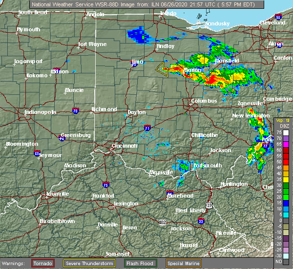 Radar Image for Severe Thunderstorms near Waldo, OH at 6/26/2020 6:02 PM EDT
