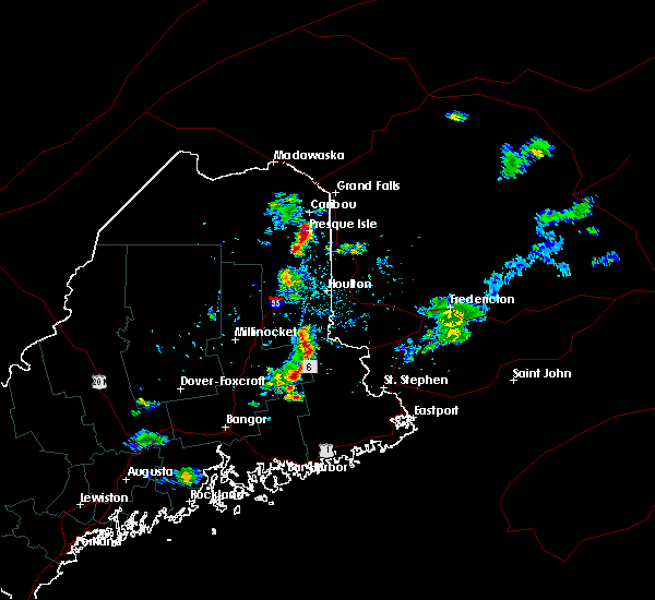 Radar Image for Severe Thunderstorms near Presque Isle, ME at 6/26/2020 6:04 PM EDT