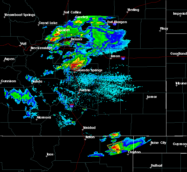Radar Image for Severe Thunderstorms near Colorado Springs, CO at 6/26/2020 4:19 PM MDT