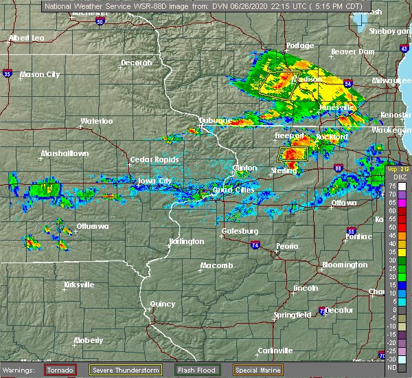 Radar Image for Severe Thunderstorms near Nora, IL at 6/26/2020 5:19 PM CDT