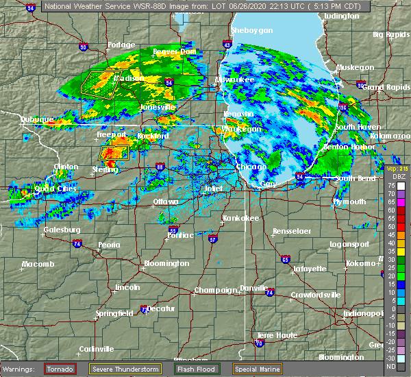 Radar Image for Severe Thunderstorms near Stillman Valley, IL at 6/26/2020 5:20 PM CDT