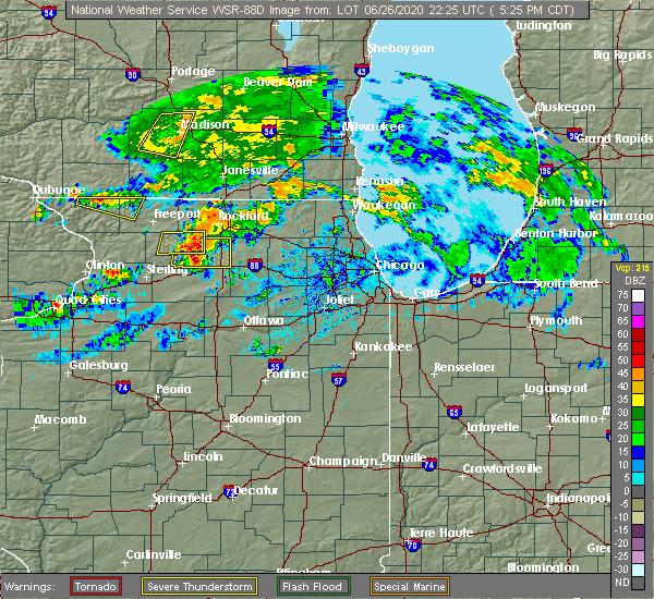 Radar Image for Severe Thunderstorms near Stillman Valley, IL at 6/26/2020 5:32 PM CDT