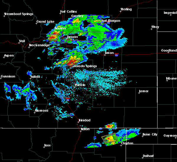 Radar Image for Severe Thunderstorms near Colorado Springs, CO at 6/26/2020 4:35 PM MDT