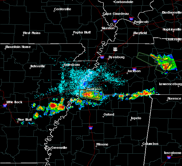 Radar Image for Severe Thunderstorms near Memphis, TN at 6/29/2015 11:55 PM CDT