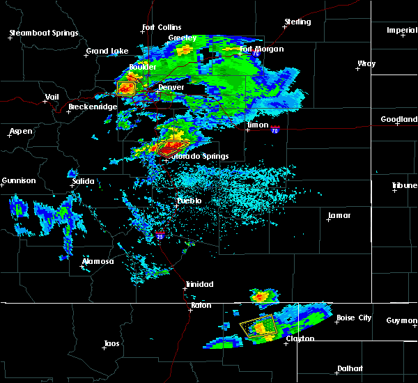 Radar Image for Severe Thunderstorms near Colorado Springs, CO at 6/26/2020 4:40 PM MDT