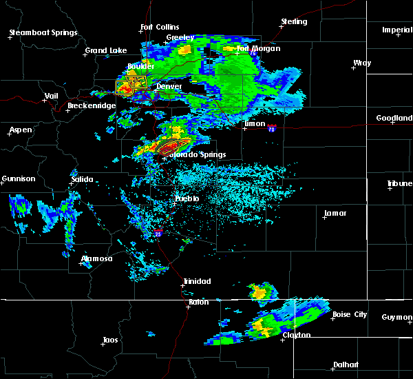 Radar Image for Severe Thunderstorms near Colorado Springs, CO at 6/26/2020 4:44 PM MDT