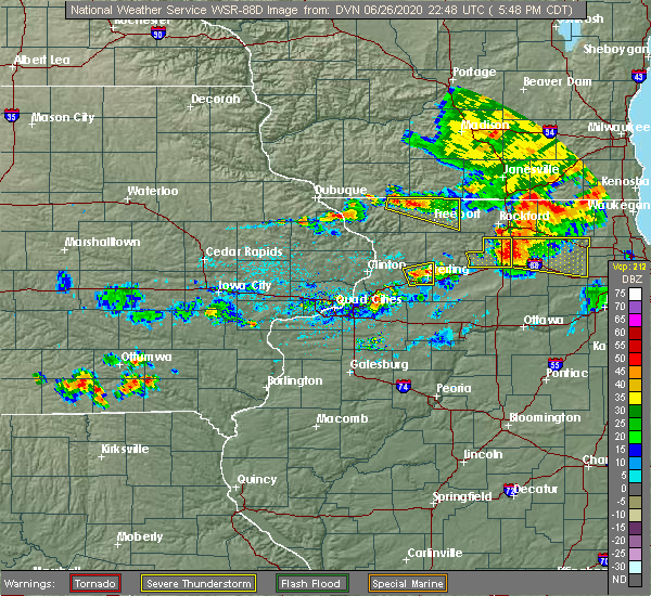 Radar Image for Severe Thunderstorms near Harmon, IL at 6/26/2020 5:53 PM CDT