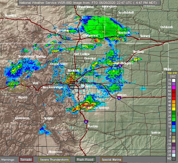 Radar Image for Severe Thunderstorms near Thornton, CO at 6/26/2020 4:56 PM MDT