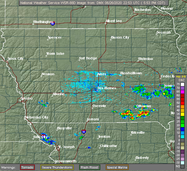 Radar Image for Severe Thunderstorms near Drakesville, IA at 6/26/2020 5:56 PM CDT