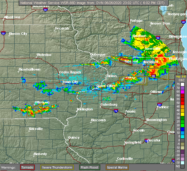 Radar Image for Severe Thunderstorms near Harmon, IL at 6/26/2020 6:08 PM CDT