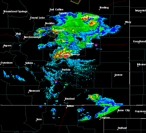 Radar Image for Severe Thunderstorms near Colorado Springs, CO at 6/26/2020 5:40 PM MDT