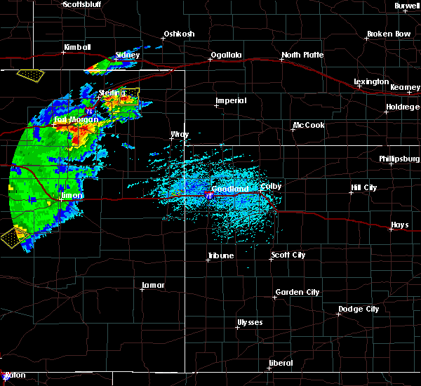 Radar Image for Severe Thunderstorms near Fleming, CO at 6/26/2020 5:50 PM MDT