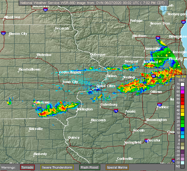 Radar Image for Severe Thunderstorms near Mount Pleasant, IA at 6/26/2020 7:08 PM CDT