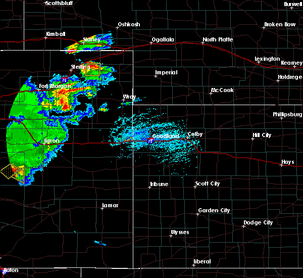 Radar Image for Severe Thunderstorms near Fleming, CO at 6/26/2020 6:15 PM MDT