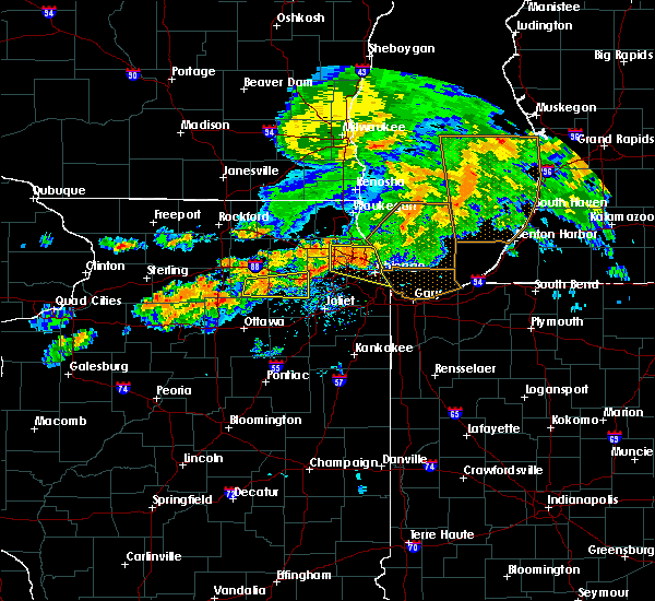 Radar Image for Severe Thunderstorms near Yorkville, IL at 6/26/2020 7:15 PM CDT
