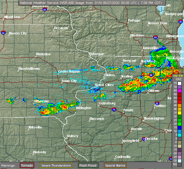 Radar Image for Severe Thunderstorms near New London, IA at 6/26/2020 7:18 PM CDT