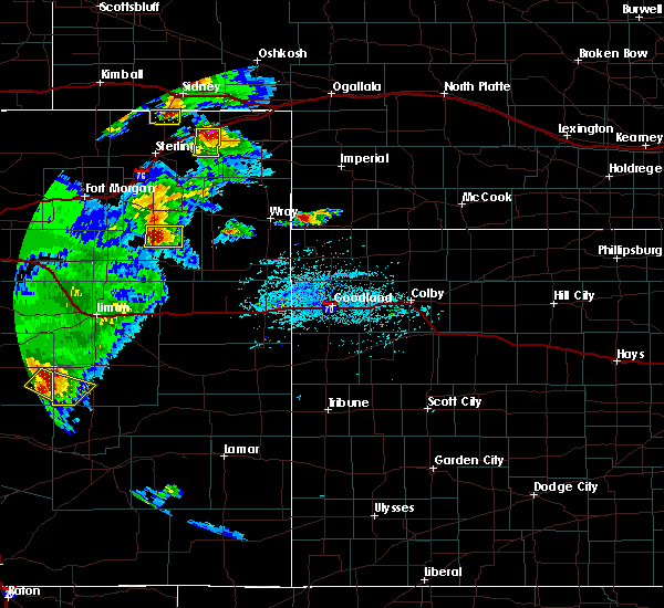 Radar Image for Severe Thunderstorms near Fleming, CO at 6/26/2020 6:33 PM MDT