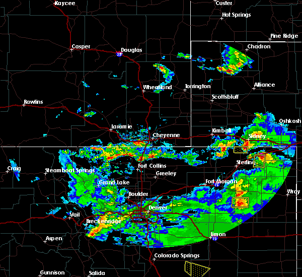 Radar Image for Severe Thunderstorms near Crook, CO at 6/26/2020 6:38 PM MDT