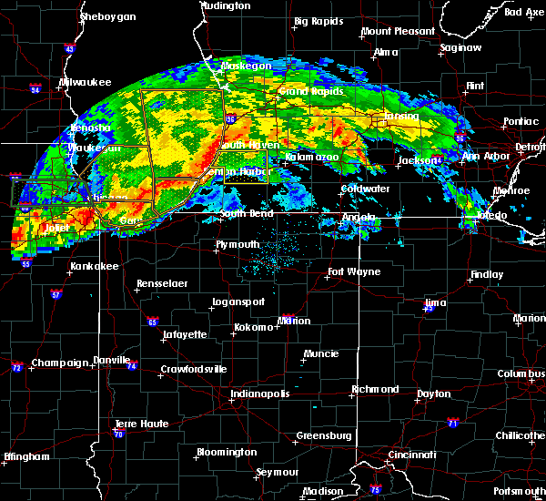 Radar Image for Severe Thunderstorms near Lakeville, IN at 6/26/2020 9:07 PM EDT