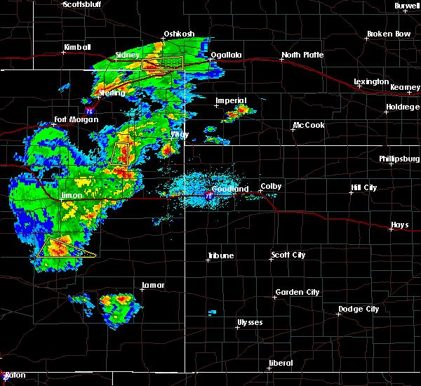Radar Image for Severe Thunderstorms near Vernon, CO at 6/26/2020 7:28 PM MDT