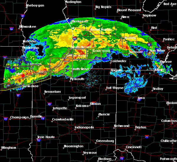 Radar Image for Severe Thunderstorms near Kingsbury, IN at 6/26/2020 8:34 PM CDT