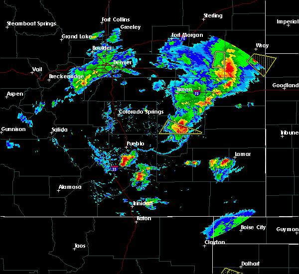 Radar Image for Severe Thunderstorms near Lamar, CO at 6/26/2020 7:43 PM MDT
