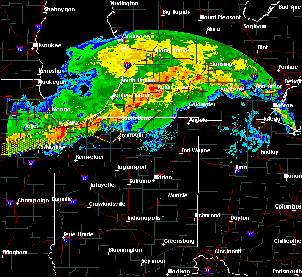 Radar Image for Severe Thunderstorms near Dowagiac, MI at 6/26/2020 9:59 PM EDT