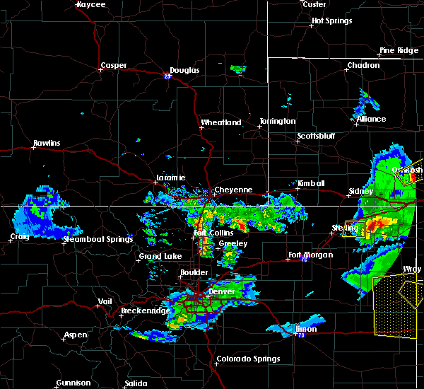 Radar Image for Severe Thunderstorms near Fleming, CO at 6/26/2020 8:11 PM MDT