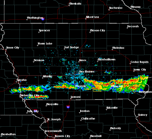Radar Image for Severe Thunderstorms near Melrose, IA at 6/26/2020 9:11 PM CDT