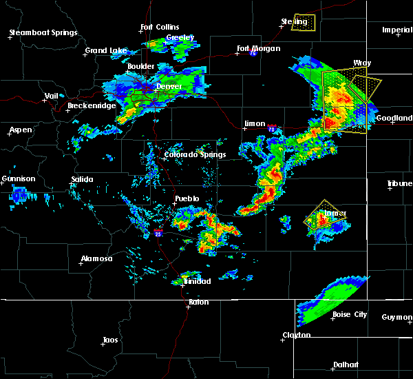 Radar Image for Severe Thunderstorms near Lamar, CO at 6/26/2020 8:17 PM MDT