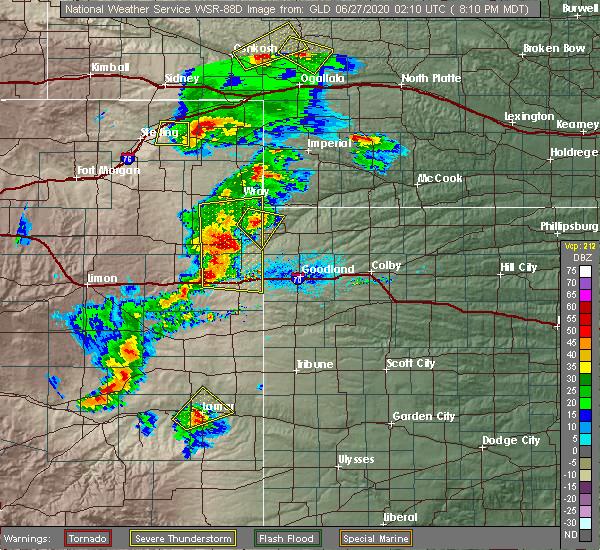 Radar Image for Severe Thunderstorms near Bird City, KS at 6/26/2020 8:17 PM MDT