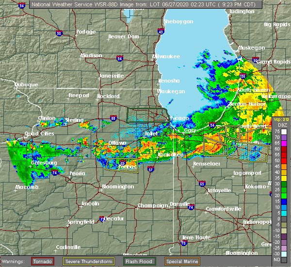 Radar Image for Severe Thunderstorms near Cullom, IL at 6/26/2020 9:27 PM CDT