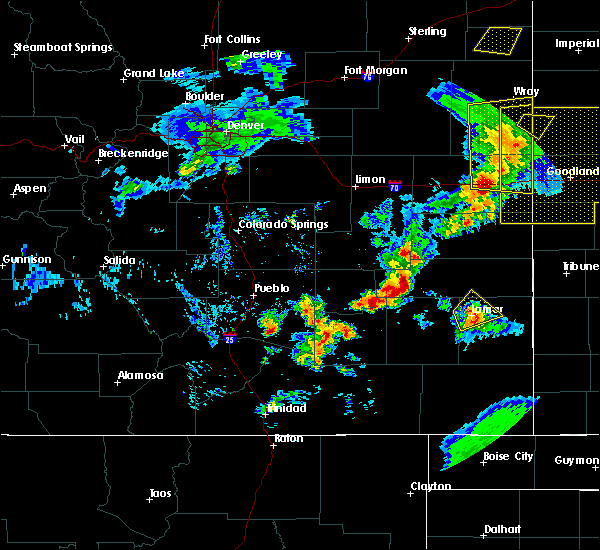 Radar Image for Severe Thunderstorms near Lamar, CO at 6/26/2020 8:29 PM MDT