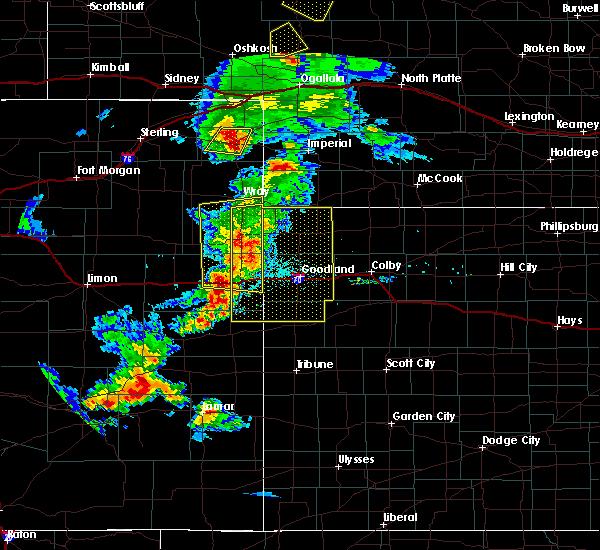 Radar Image for Severe Thunderstorms near Bethune, CO at 6/26/2020 8:39 PM MDT