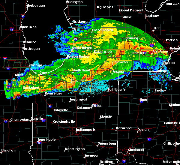 Radar Image for Severe Thunderstorms near Claypool, IN at 6/26/2020 10:48 PM EDT