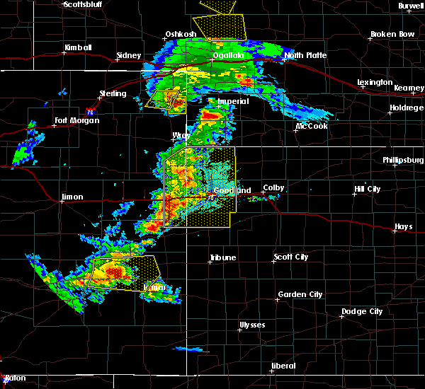 Radar Image for Severe Thunderstorms near Paoli, CO at 6/26/2020 8:56 PM MDT
