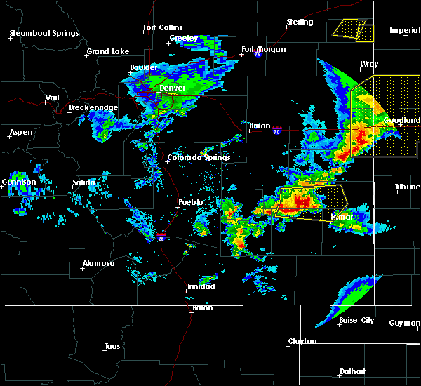 Radar Image for Severe Thunderstorms near Lamar, CO at 6/26/2020 8:59 PM MDT