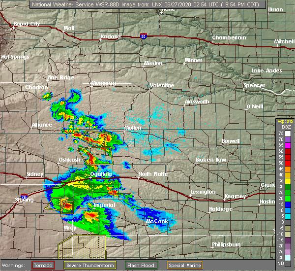 Radar Image for Severe Thunderstorms near Hyannis, NE at 6/26/2020 8:59 PM MDT