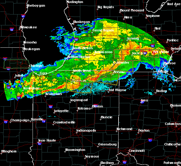 Radar Image for Severe Thunderstorms near Claypool, IN at 6/26/2020 11:01 PM EDT