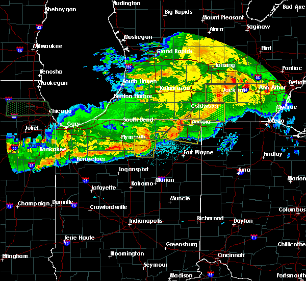 Radar Image for Severe Thunderstorms near Harlan, IN at 6/26/2020 11:10 PM EDT
