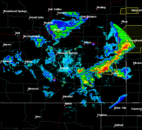 Radar Image for Severe Thunderstorms near Lamar, CO at 6/26/2020 9:13 PM MDT