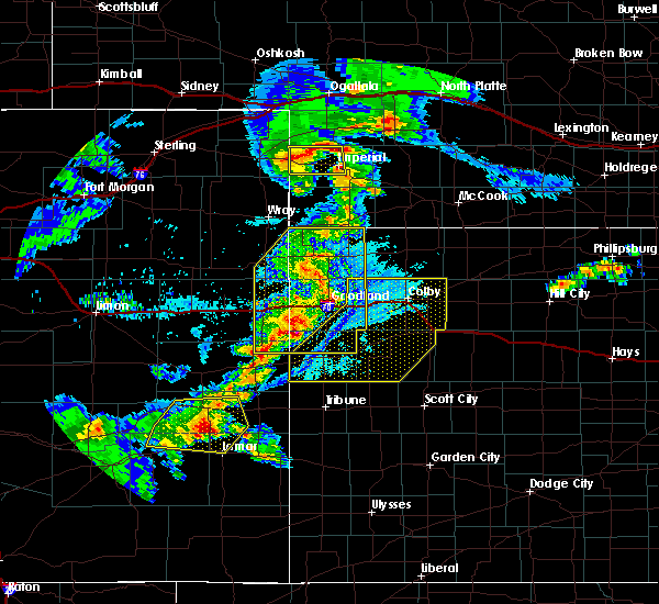 Radar Image for Severe Thunderstorms near Wallace, KS at 6/26/2020 10:20 PM CDT