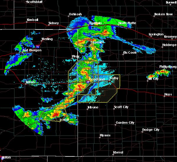 Radar Image for Severe Thunderstorms near Bird City, KS at 6/26/2020 9:26 PM MDT