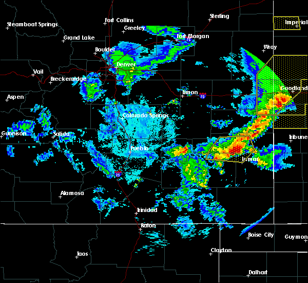 Radar Image for Severe Thunderstorms near Lamar, CO at 6/26/2020 9:28 PM MDT