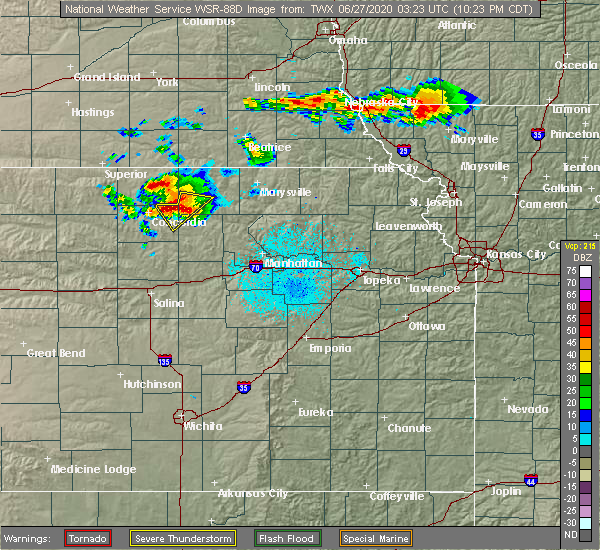 Radar Image for Severe Thunderstorms near Clyde, KS at 6/26/2020 10:30 PM CDT